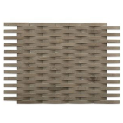 Athens Grey 3D Weave marble backsplash